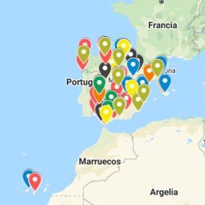 mapa de pilotos de drones en españa